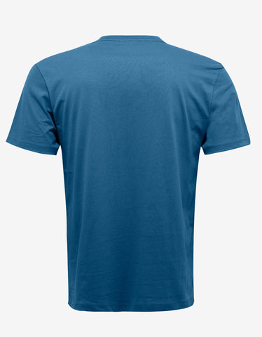 Christopher Raeburn Teal Blue Ethos Print T-Shirt