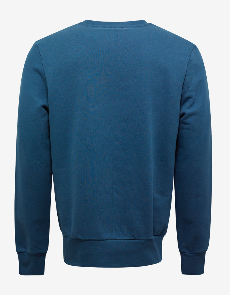 Teal Blue Velcro Moon Sweatshirt