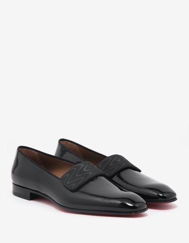 Christian Louboutin Vittorio Flat Black Patent Leather Loafers