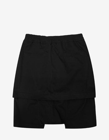 DRKSHDW by Rick Owens Kilt Pods Black Drop Crotch Shorts