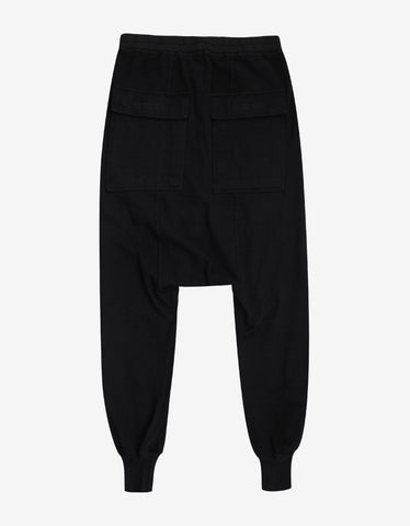DRKSHDW by Rick Owens Prisoner Drawstring Black Sweatpants