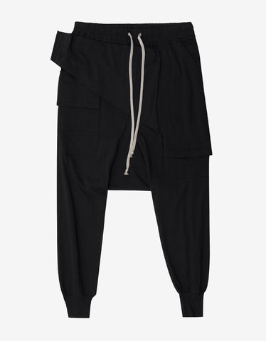 DRKSHDW by Rick Owens Prisoner Memphis Black Sweat Pants