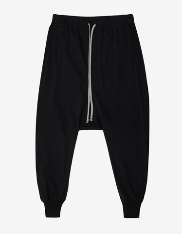 DRKSHDW by Rick Owens Prisoner Drawstring Black Lightweight Sweat Pants