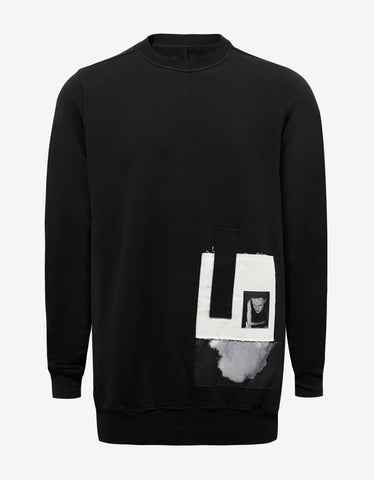 DRKSHDW by Rick Owens Black Sweatshirt with Patches