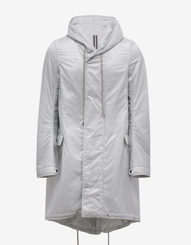 DRKSHDW by Rick Owens Dinge White Fishtail Parka