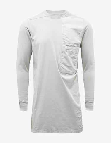 DRKSHDW by Rick Owens Dinge White Pocket LS T-Shirt