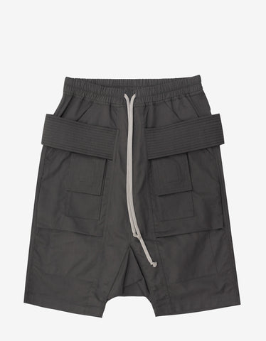 DRKSHDW by Rick Owens Dark Dust Grey Cargo Pods Shorts