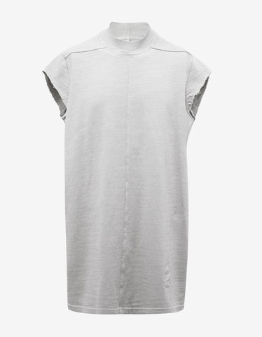 DRKSHDW by Rick Owens Dinge White Jumbo Sleeveless Sweatshirt