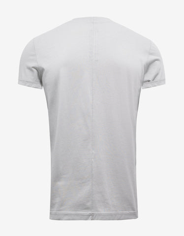 DRKSHDW by Rick Owens Dinge White T-Shirt with Embroidery