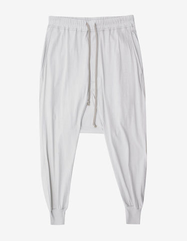DRKSHDW by Rick Owens Prisoner Drawstring Dinge White Lightweight Sweat Pants