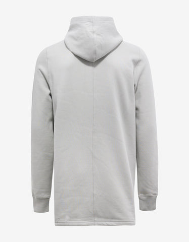 DRKSHDW by Rick Owens Dinge White Hoodie with Embroidered Graphic
