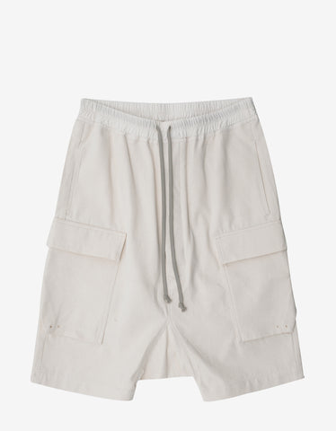 DRKSHDW by Rick Owens Off-White Cargo Pods Shorts