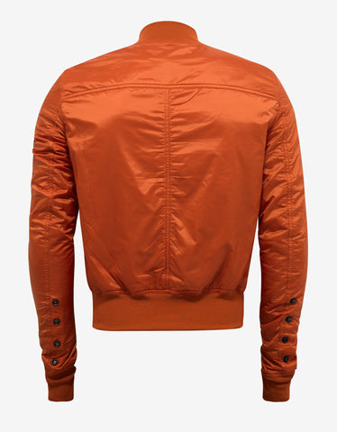 DRKSHDW by Rick Owens Orange Glitter Flight Jacket