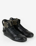 Black 125mm High Top Trainers with Screws