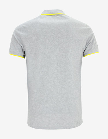 Kenzo Grey K Fit Tiger Head Polo T-Shirt