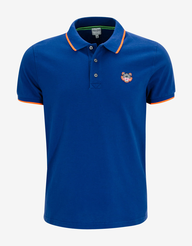 Blue K Fit Tiger Head Polo T-Shirt