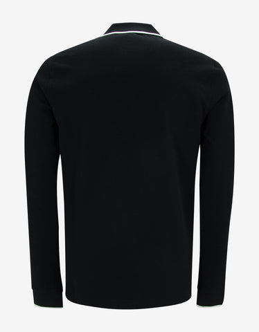 Kenzo Black Tiger Head Long Sleeve Polo T-Shirt