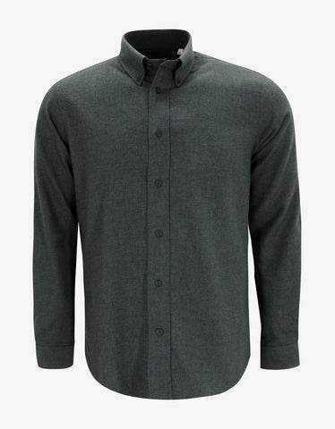 Kenzo Grey Brushed Cotton Shirt