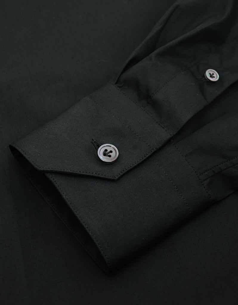 Slim Fit Black Shirt