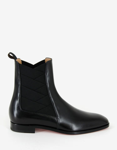 Christian Louboutin Brian Black Leather Chelsea Boots