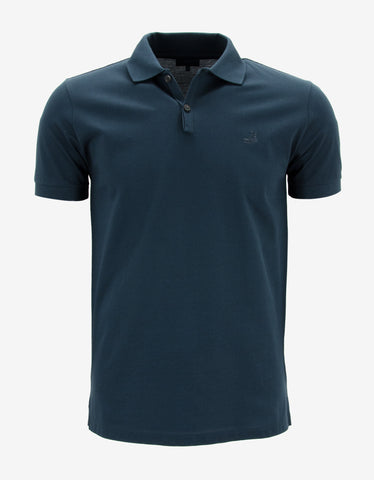 Lanvin Blue Polo T-Shirt with Trainer Emblem