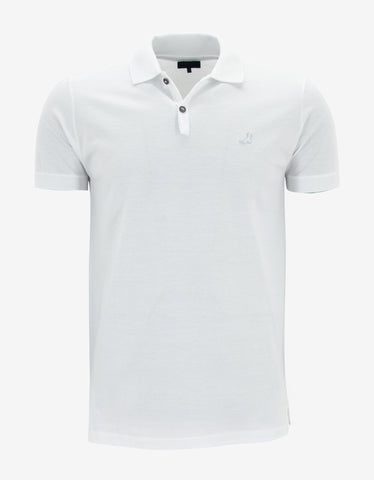 Lanvin White Polo T-Shirt with Trainer Emblem