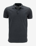 Dark Grey Polo T-Shirt with Trainer Emblem