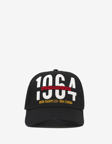 Dsquared2 Black 1964 Print Baseball Cap
