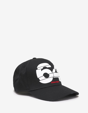 Dsquared2 Black 64 Print Baseball Cap