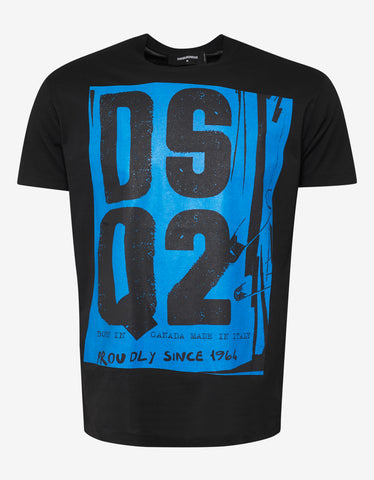 Dsquared2 Black DSQ2 Punk Print T-Shirt