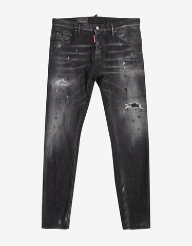 Dsquared2 Black Distressed Cool Guy Jeans