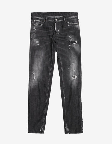 Dsquared2 Black Distressed Slim Jeans