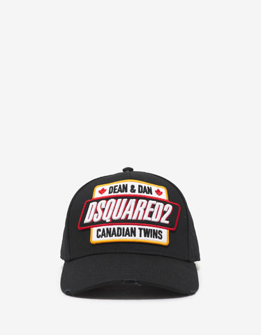Dsquared2 Black Dsquared2 Badge Baseball Cap