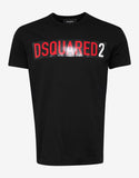 Black Dsquared2 Box Logo T-Shirt