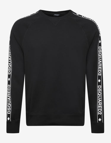 Dsquared2 Black Dsquared2 Logo Tape Sweatshirt