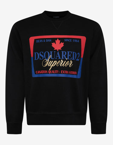 Dsquared2 Black Dsquared2 Superior Print Sweatshirt