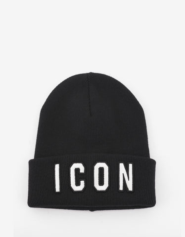 Dsquared2 Black Icon Beanie Hat