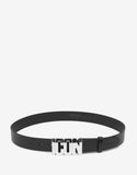 Black Icon Logo Buckle Belt
