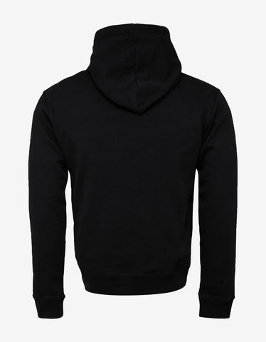 Dsquared2 Black Icon Print Hoodie