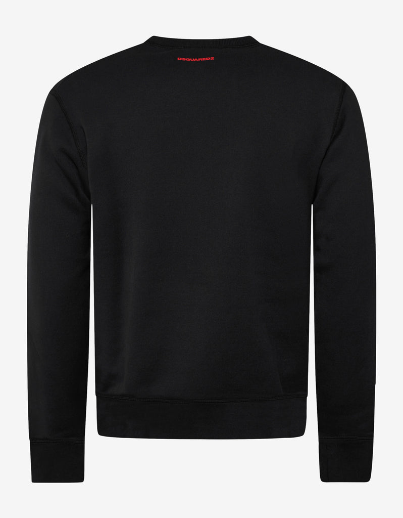 Black Icon Print Sweatshirt