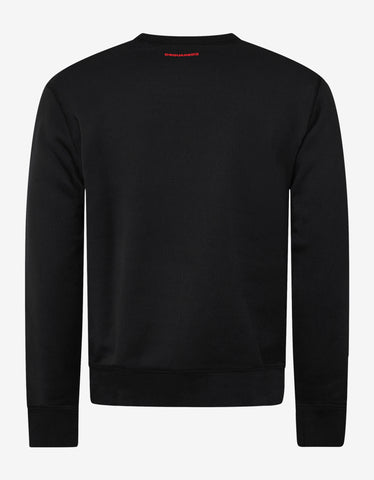 Dsquared2 Black Icon Print Sweatshirt