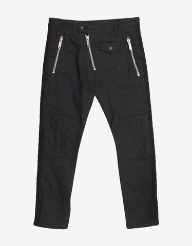 Dsquared2 Black Jeans with Stitch Knee Detail