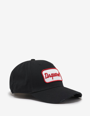 Dsquared2 Black Logo Badge Baseball Cap