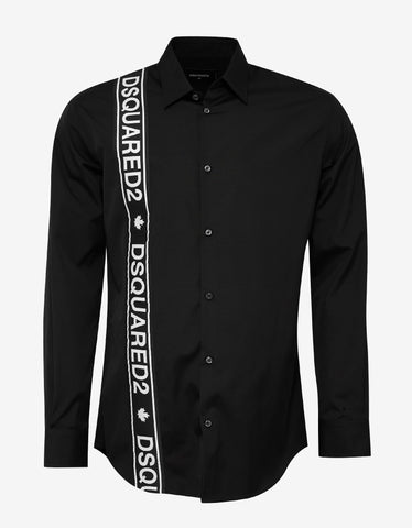 Dsquared2 Black Logo Trim Shirt