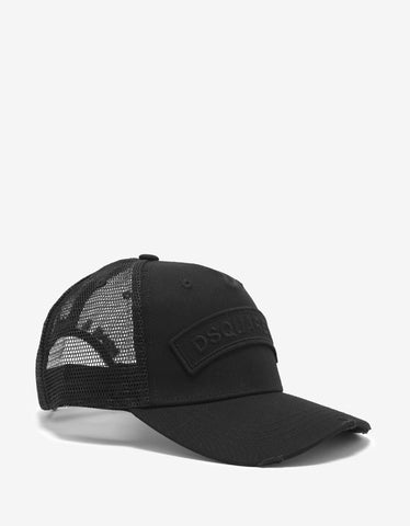 Dsquared2 Black Logo Trucker Hat