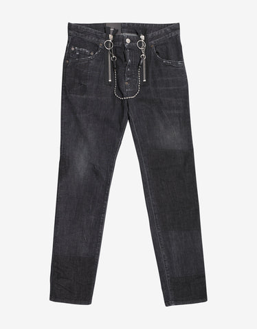 Dsquared2 Black Skater Jeans with Chain Attachment