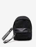 Black Logo Pull Backpack