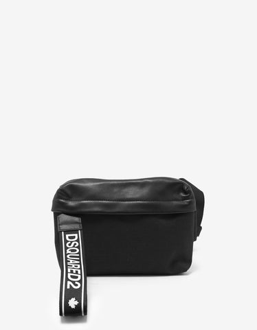 Dsquared2 Black Logo Pull Waist Bag