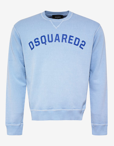 Dsquared2 Blue DSQUARED2 Logo Print Sweatshirt
