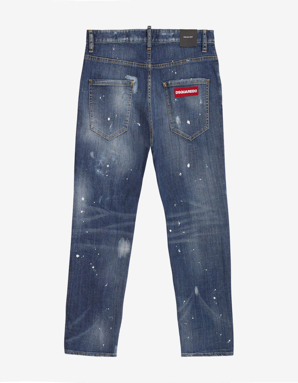 Blue Distressed Run Dan Jeans